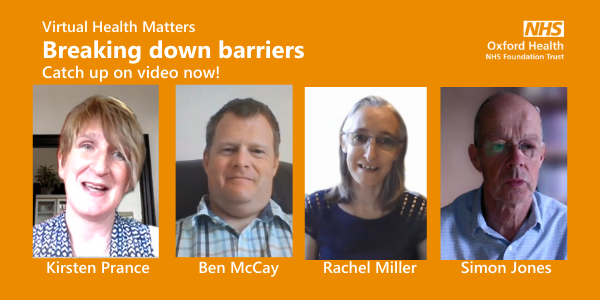Catch up on video: Health Matters – Breaking down barriers