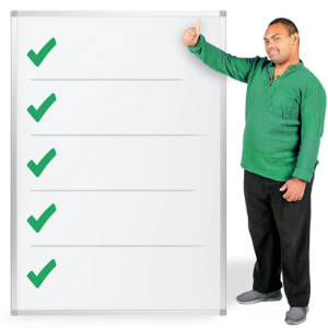 Photosymbols image of a man with a checklist