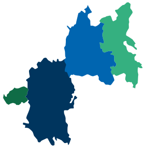 Map of Areas served by Oxford Health NHS Foundation