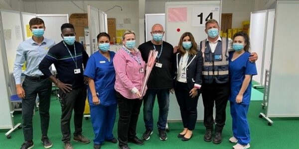 Aylesbury vaccination team light the way with 500,000-jab celebration