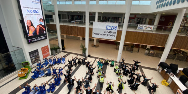 Oxford Health team efforts adds up to a big 500k jabs!