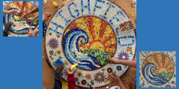 Young people's mosaic project helps brighten up Highfield Unit