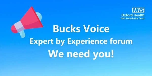 New Expert by Experience forum coming to Bucks