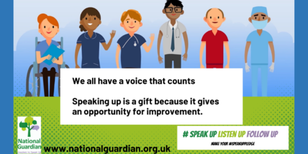 October is Speak Up month, speaking up is for everyone
